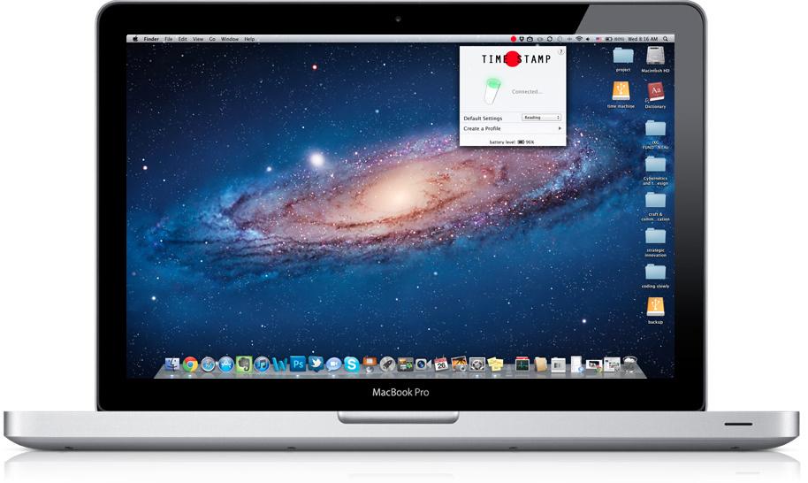 Desktop application interface